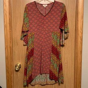 Umgee Patterned  high low Boho Dress Tunic